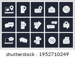 Set Of Message Chat Icon. Sms...