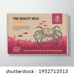 fine quality seafood cardboard... | Shutterstock .eps vector #1952713513