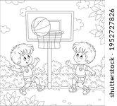 cheerful little kids playing... | Shutterstock .eps vector #1952727826