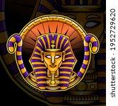 pharaoh esport mascot logo... | Shutterstock .eps vector #1952729620