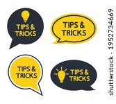 tips and tricks  helpful tips ... | Shutterstock .eps vector #1952734669