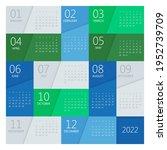 calendar planner for 2022.... | Shutterstock .eps vector #1952739709