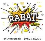 rabat comic text in pop art... | Shutterstock .eps vector #1952756239