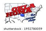 oklahoma state. vector... | Shutterstock .eps vector #1952780059