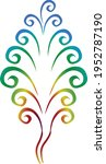 rainbow tree vector... | Shutterstock .eps vector #1952787190