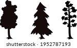 tree silhouette set vector... | Shutterstock .eps vector #1952787193