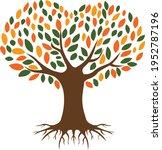 heart tree vector illustration... | Shutterstock .eps vector #1952787196