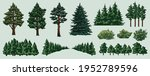 colorful nature elements set... | Shutterstock .eps vector #1952789596