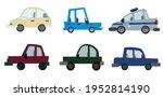 passenger car. urban transport. ... | Shutterstock .eps vector #1952814190