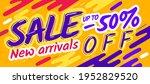 cartoon sale banner poster.... | Shutterstock .eps vector #1952829520