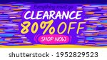 clearance sale banner template. ... | Shutterstock .eps vector #1952829523