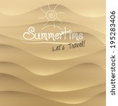 vector sand summer travel... | Shutterstock .eps vector #195283406