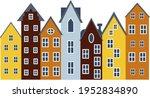 european multicolored vintage... | Shutterstock .eps vector #1952834890