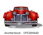 retro car. | Shutterstock .eps vector #195284660