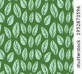hand drawn doodle leaf pattern. ... | Shutterstock .eps vector #1952873596
