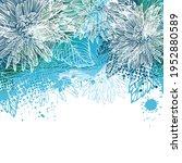 abstract blue flower. beautiful ... | Shutterstock .eps vector #1952880589