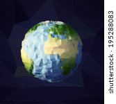 earth. low poly vector... | Shutterstock .eps vector #195288083