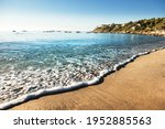 Soft Wave Of The Sea On The...