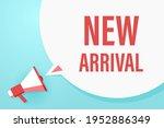 megaphone or loudspeaker with... | Shutterstock .eps vector #1952886349