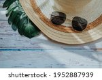 Summer Hat And Sunglasses With...