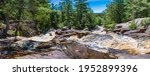 Duchesnay Falls North Bay Ontario Canada in summer