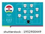 croatia line up football 2020... | Shutterstock .eps vector #1952900449