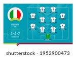 italy line up football 2020... | Shutterstock .eps vector #1952900473