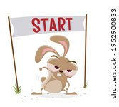 funny cartoon rabbit is ready... | Shutterstock .eps vector #1952900833