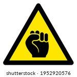 Raster Protest Fist Flat...