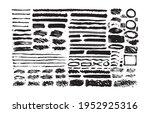 set of black paint  ink brush... | Shutterstock .eps vector #1952925316