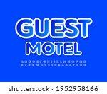 vector modern sign guest motel... | Shutterstock .eps vector #1952958166
