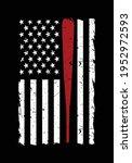 american baseball flag. black...   Shutterstock .eps vector #1952972593