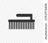 transparent bathroom brush icon ...