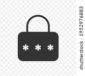 transparent padlock password...