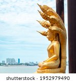 Golden Buddha Statue Sitting On ...