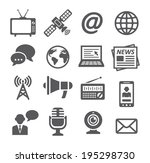media icons | Shutterstock . vector #195298730