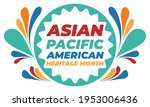 may is asian pacific american... | Shutterstock .eps vector #1953006436