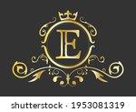 golden stylized letter e of the ...   Shutterstock .eps vector #1953081319