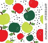 apple seamless pattern vector... | Shutterstock .eps vector #1953081649