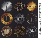 chile business metal stamps.... | Shutterstock .eps vector #1953091723