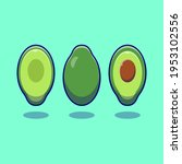 vector fresh avocado fruit icon.... | Shutterstock .eps vector #1953102556
