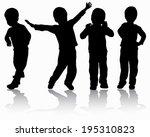 boys silhouettes | Shutterstock .eps vector #195310823