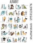 vector animals alphabet. vector ... | Shutterstock .eps vector #1953126676