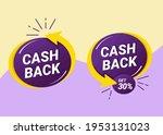 set of cashback label... | Shutterstock .eps vector #1953131023