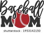 baseball mom   baseball design   Shutterstock .eps vector #1953142150