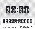 scoreboard number font. flip...