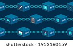 concept of nft  non fungible... | Shutterstock .eps vector #1953160159