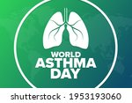 world asthma day. holiday... | Shutterstock .eps vector #1953193060