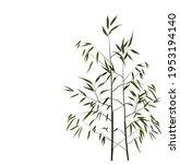 bamboo vector stock... | Shutterstock .eps vector #1953194140