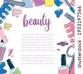 vector template for a beauty...   Shutterstock .eps vector #1953197566